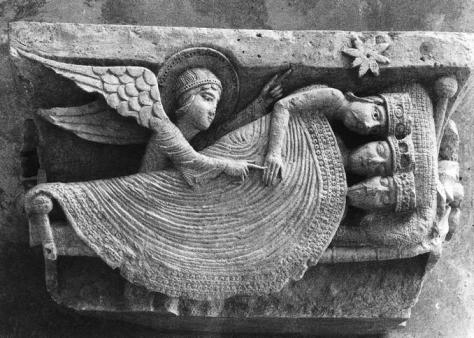 Dream of the Magi capital carving attributed to Giselbertus