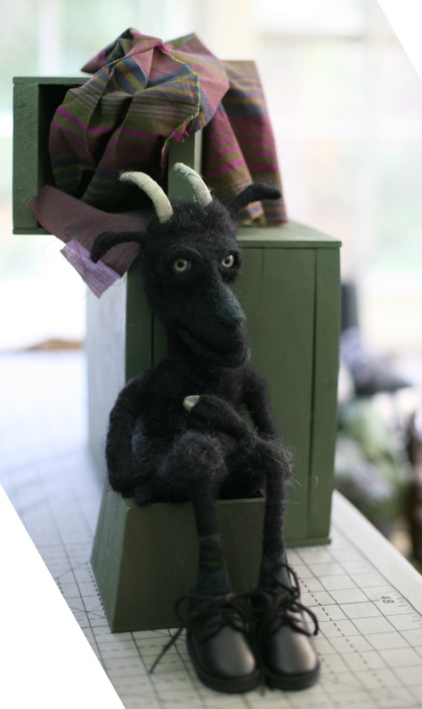 Needle-felted Krampus